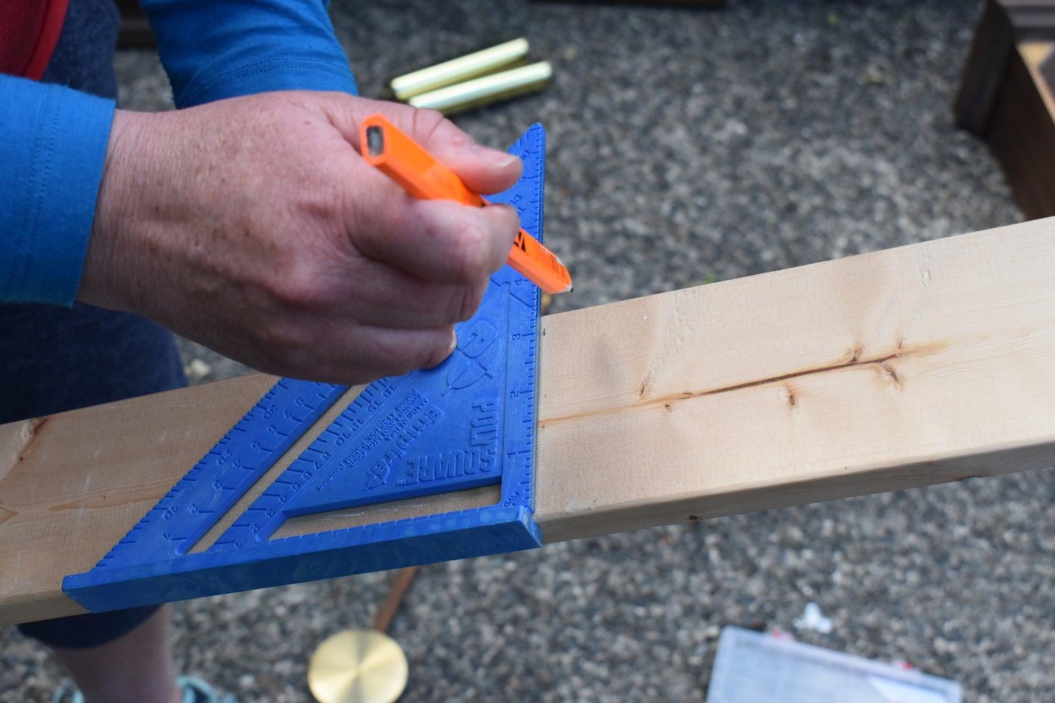 Shelf/Box Planter/Support Preparation