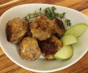 Apple Cheddar Pork Meatballs