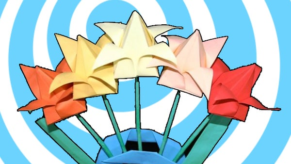 How to Make an Origami Tulip Flower  - Video Tutorial