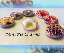 Pie Charms From Clay: Earrings, Necklace, Etc.