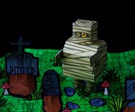 Free Halloween Mummybot Papercraft