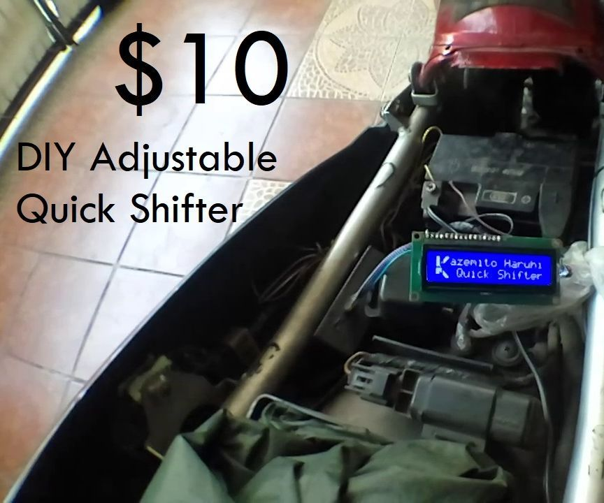 $10 Quick Shifter! Kazeshifter Arduino Adjustable Quick Shifter