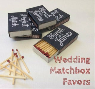 Chalkboard Wedding Matchbox Favours