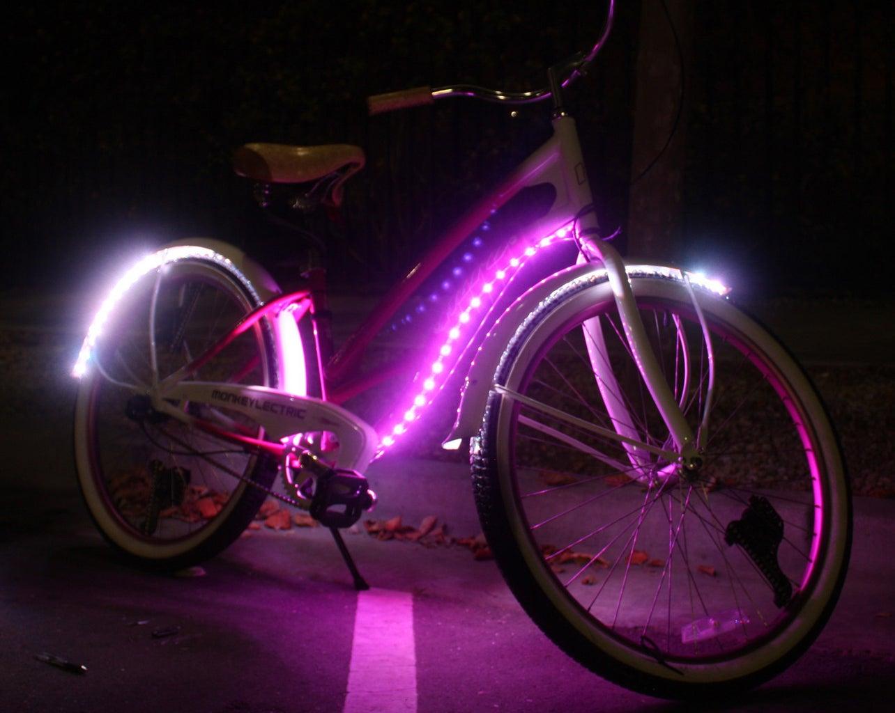Pink Molly Lighted Cruiser Bike