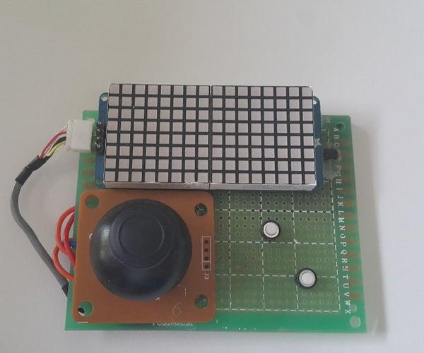 Arduino LED Matrix Handheld Gaming Console