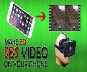 将任何视频转换为智能手机上的3D SBS(视频)