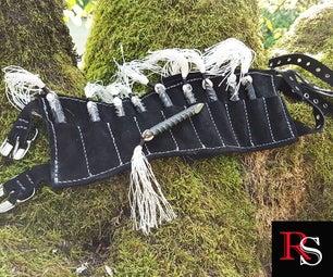 Ninja Rebar Shuriken With Leg Sheath - Maker Collab Pt.2