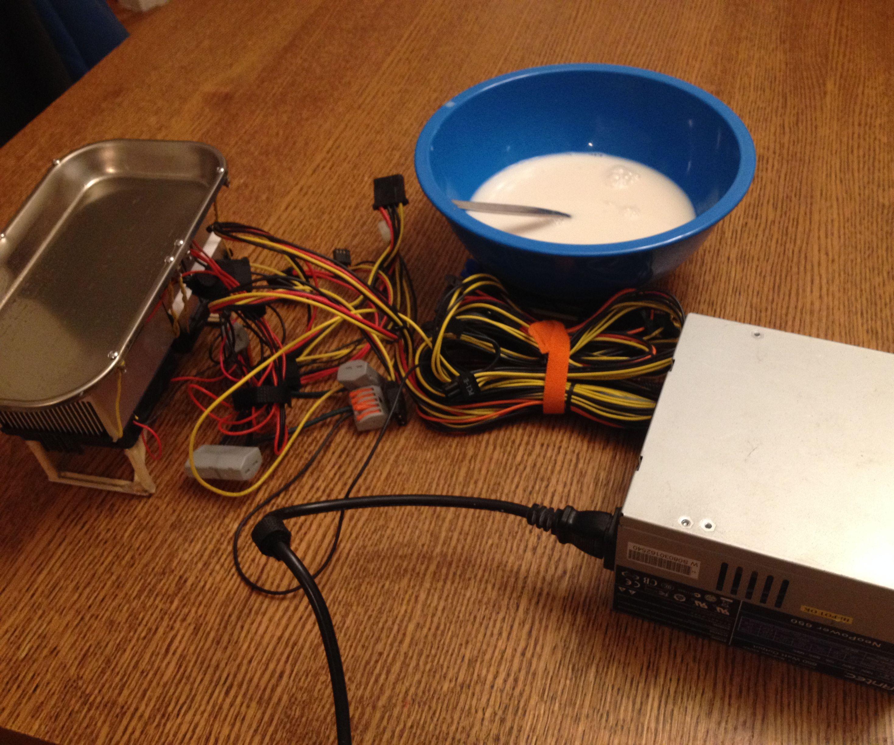 DIY Ice Cream Maker Attempt