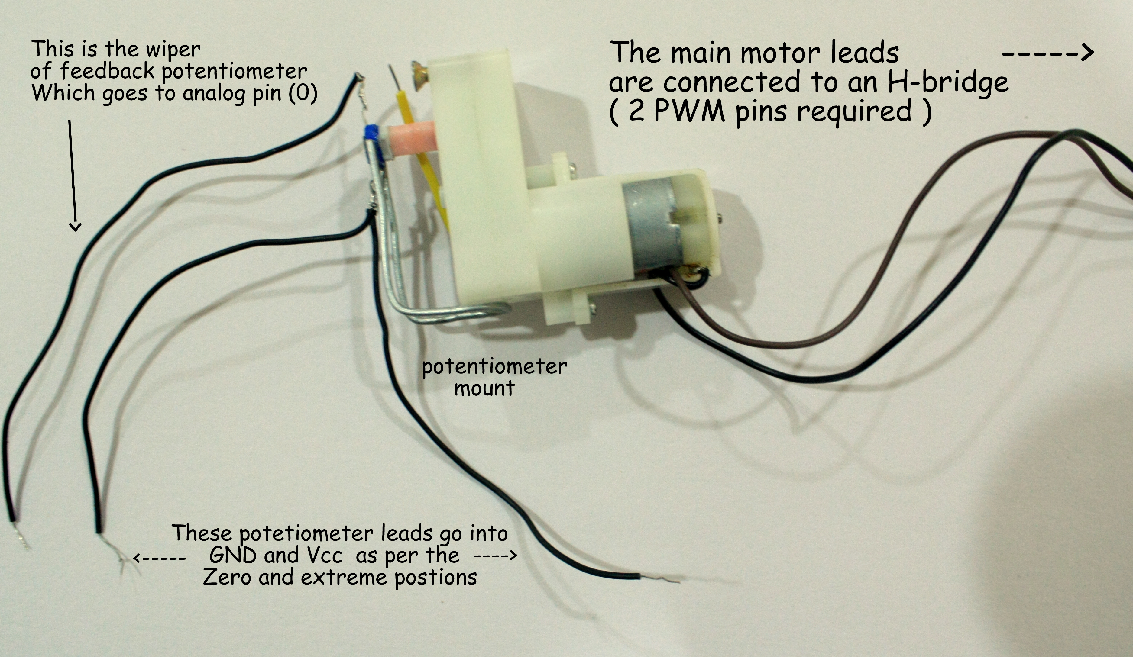 Make your own low-cost servo
