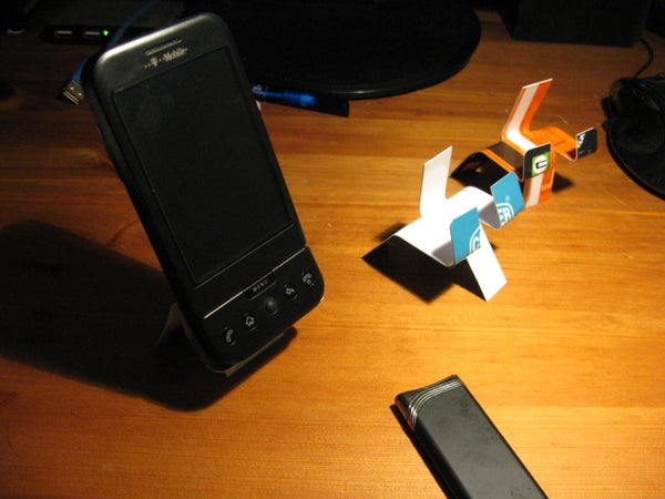Bending a Credit Card Into a Phone Stand Using a Lighter