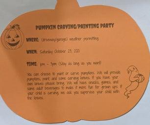 Pumpkin Invitation