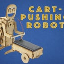 Laser Cut Cart-Pushing Robot