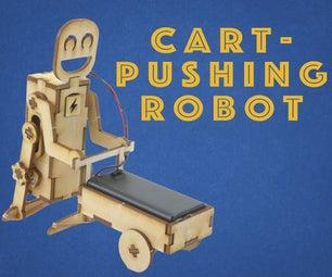 Laser Cut Cart-Pushing Robot