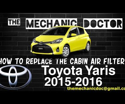 How to Replace the Cabin Air Filter: Toyota Yaris 2015 - 2016