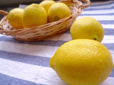 To Make These Zingy Lemon Cupcakes, We Need to Have Fresh Lemons. Grate the Skins for the Lemon Zest and Squeeze the Lemon for Fresh Lemon Juice.