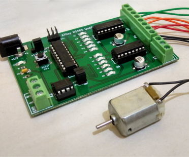 Bidirectional control of 4 DC motors using ATtiny Microcontroller and L293D