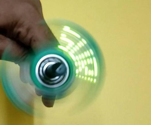 Names and Design Led Fidget Spinner