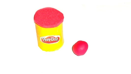 Miniature Play Doh Lps and Doll Craft