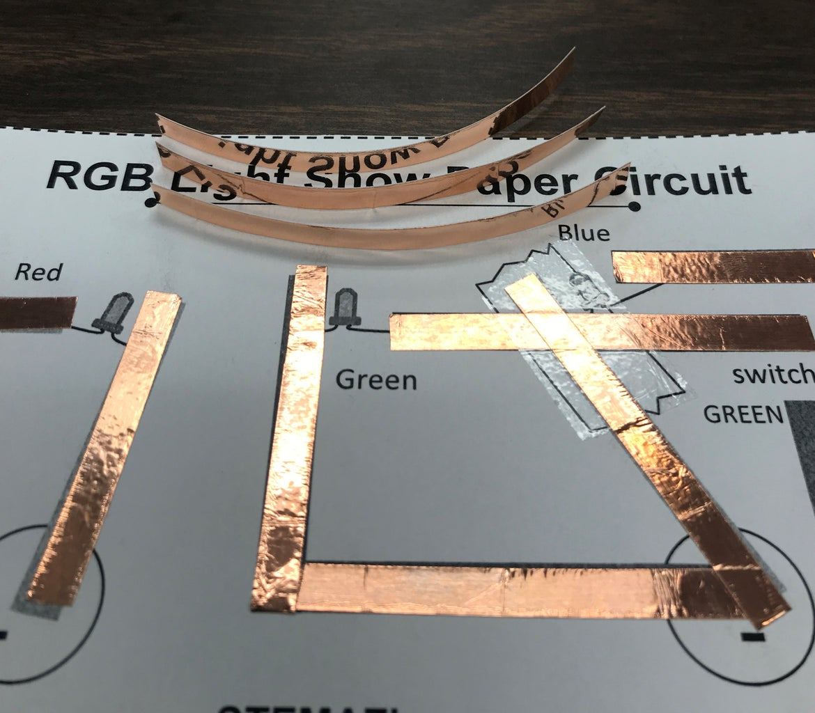 Measure and Cut Copper Foil Tape Lengths for Switches.
