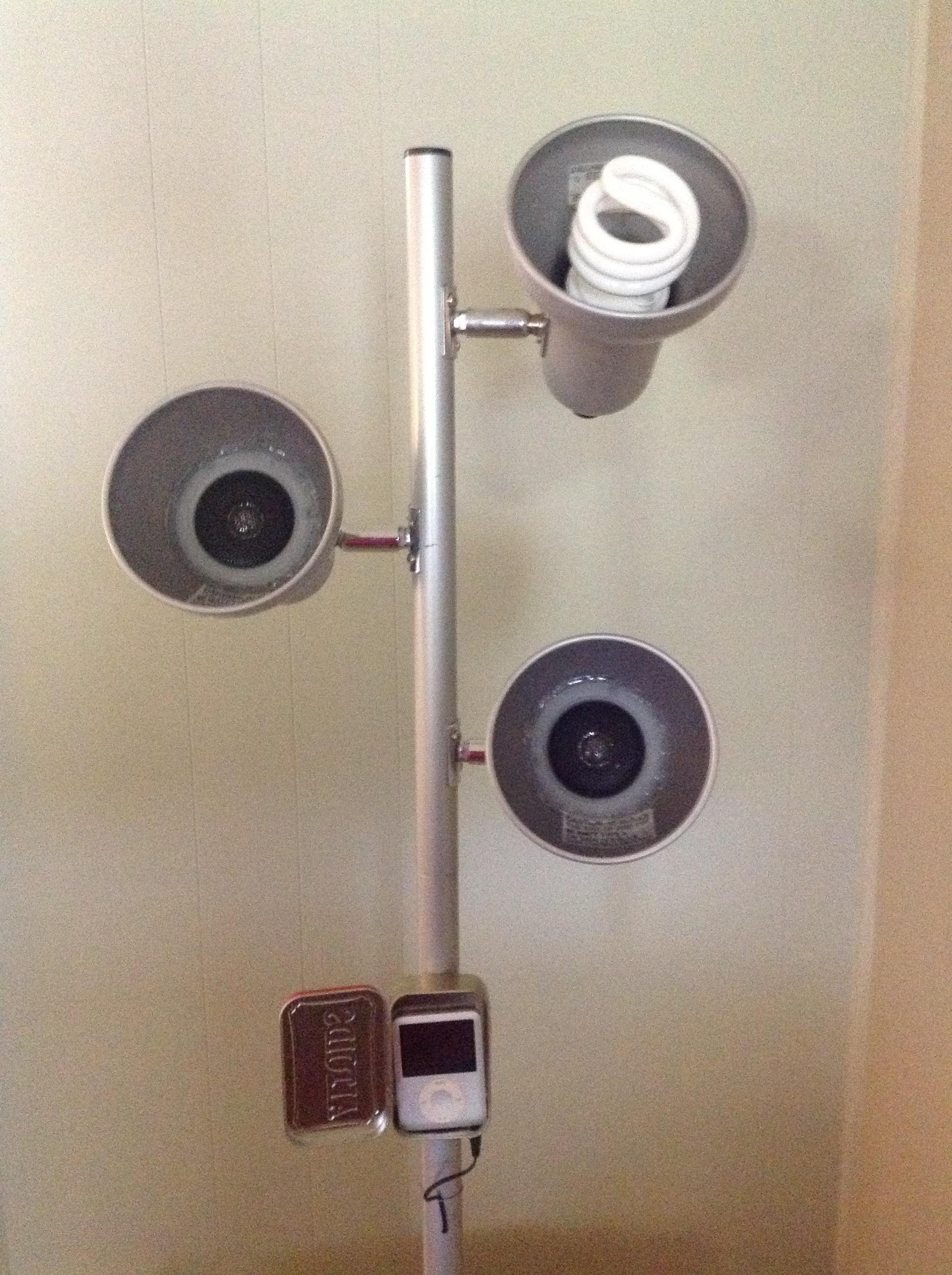 Turn Lamp Into Speaker Tower