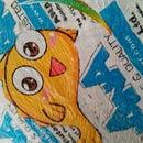 Fused plastic book cover