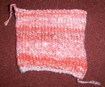 Locate Where the Knitting Was Cast Off.
