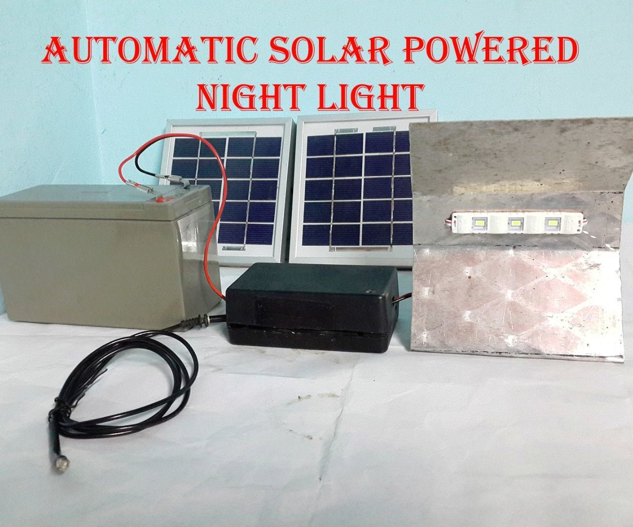 AUTOMATIC SOLAR POWERED NIGHT LIGHT