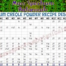 Full Spectrum Creole Powder Recipe Designer Table
