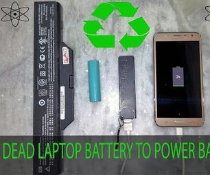 How to Reuse LAPTOP Battery to Make Power Bank for Smartphone ?