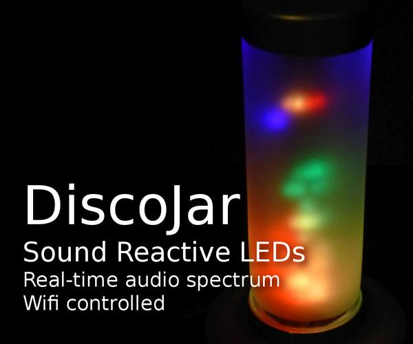 DiscoJar: Sound Reactive Lamp With 288 RGB LEDs