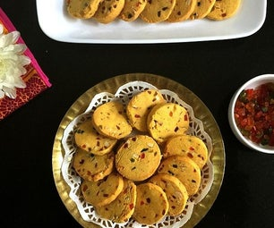 Karachi Biscuits/Eggless Candied Fruit Cookies