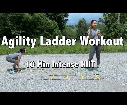 Intense Agility Ladder Drill HIIT Workout