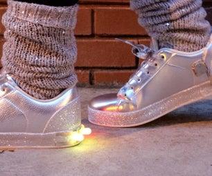 LED运动鞋 - 你的鞋子,照亮了!