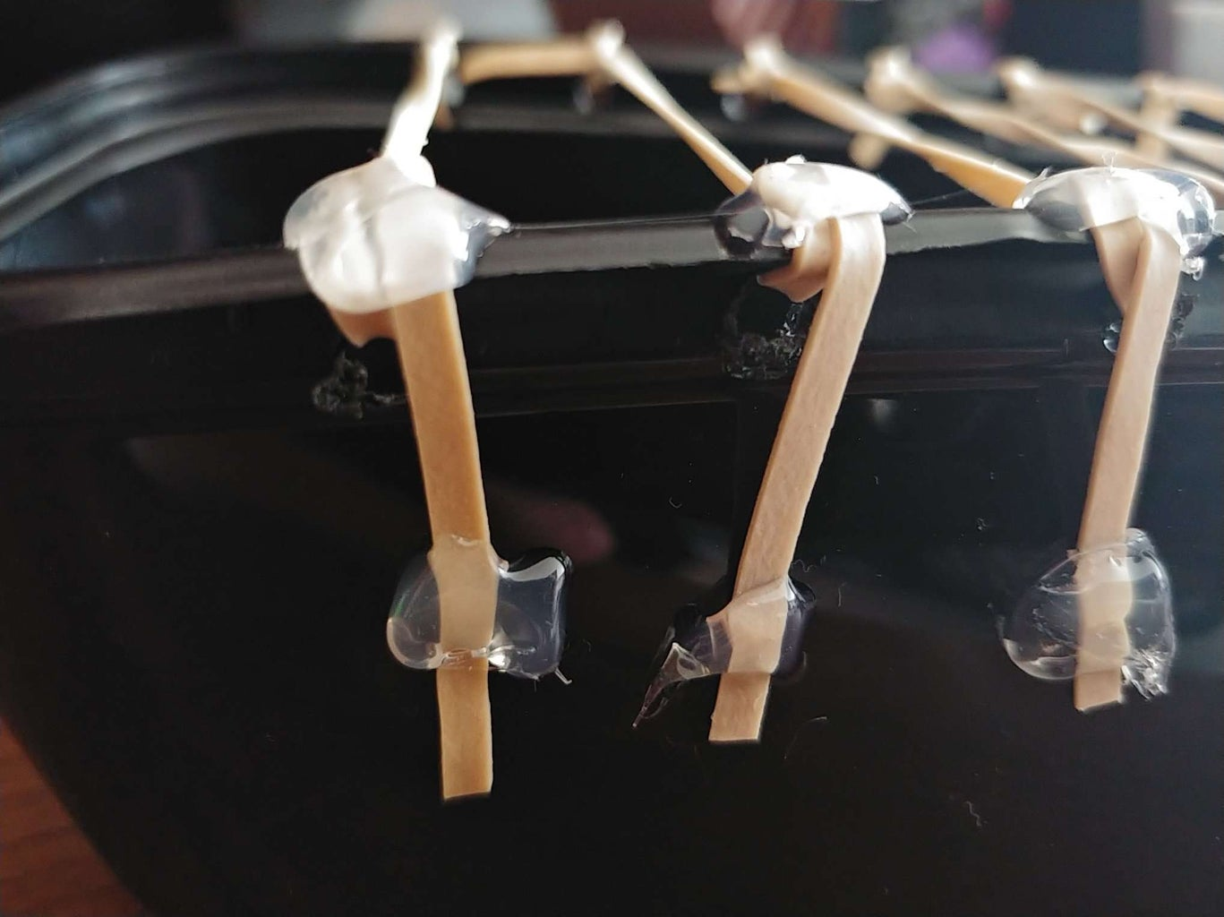 Hot Gluing Your Rubber Bands
