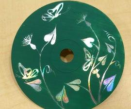 Simple CD Scratch Art