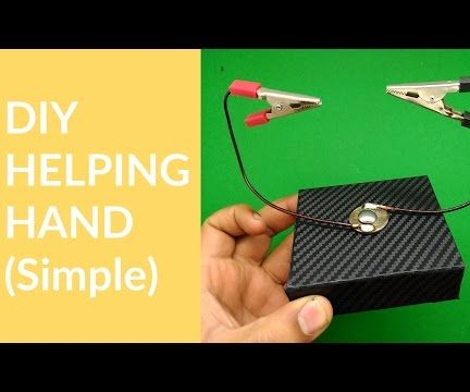 DIY Helping hand for soldering and elec.(SIMPLE & CHEAP)