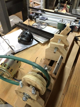 Mini Wood Lathe Using Scrap Wood 6 Steps With Pictures Instructables