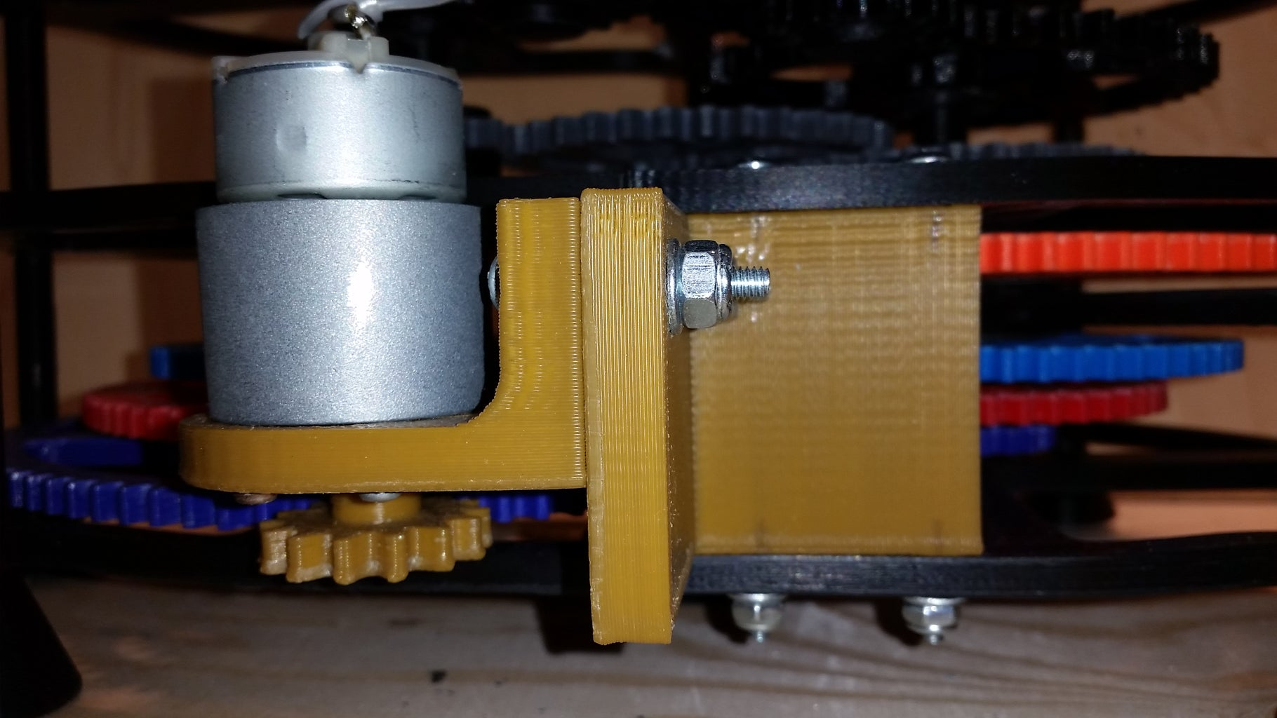 Mount Motor, Brackets and Switch