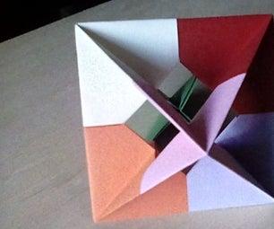 Modular Origami Windowed Octahedron