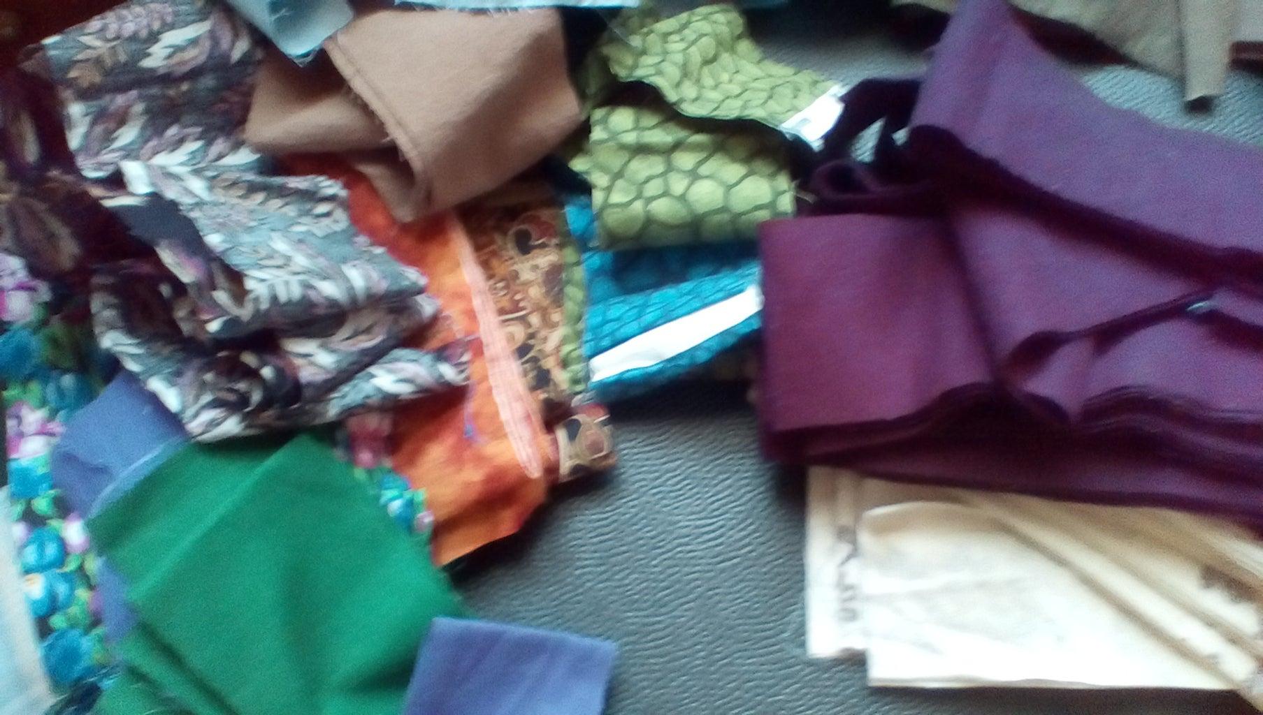 Gathering and Cutting Fabrics
