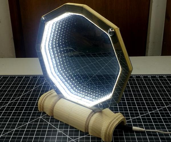 Make a 2 Sided, Desktop Infinity Mirror