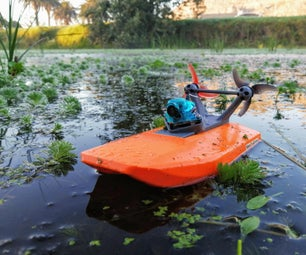 Micro FPV Boat From Drone Parts