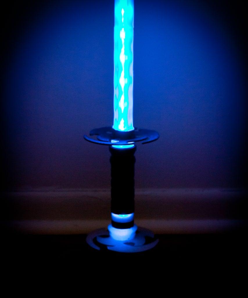 3D Printable Ninja Light Sword / Katana Color Changing LED Lamp