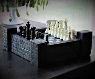 Castle Theme Chess Board