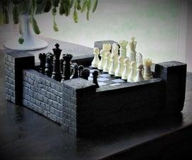 Castle Theme Chess Board