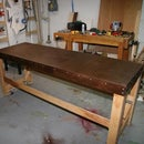 An assembly table from a hollow core door