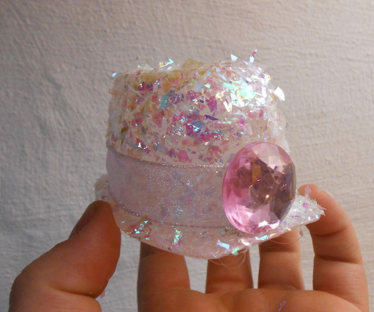 Yogurt Container Mini Glitter Hat
