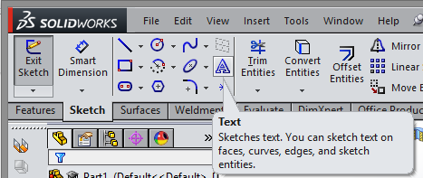 Make the Text Sketch