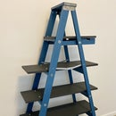 Upcycled Wooden Ladder Bookshelf