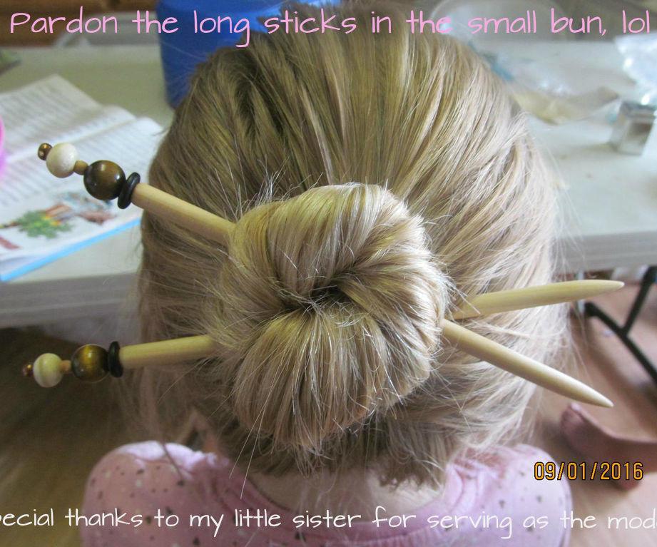 Stylish DIY Bead-topped Hair Sticks